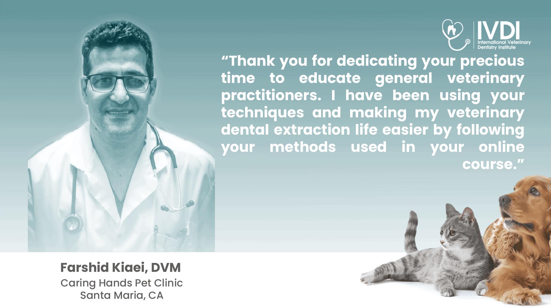 Dr. Farshid Kiaei's Review for Dr. Brett Beckman's Veterinary Dental Webinars On Demand Online Dentistry Courses